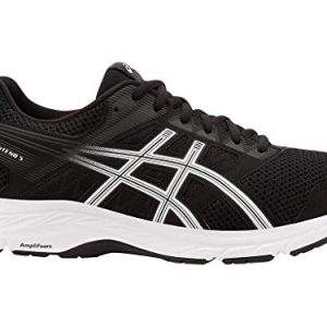 ASICS Mens Gel-Contend 5 Running Shoes, 8M, Black/White