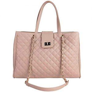 Chavon Womens 15.6 inch Laptop Tote Handbag Premium Top Handle Satchel Quilted Travel Bag Briefcase Oversized